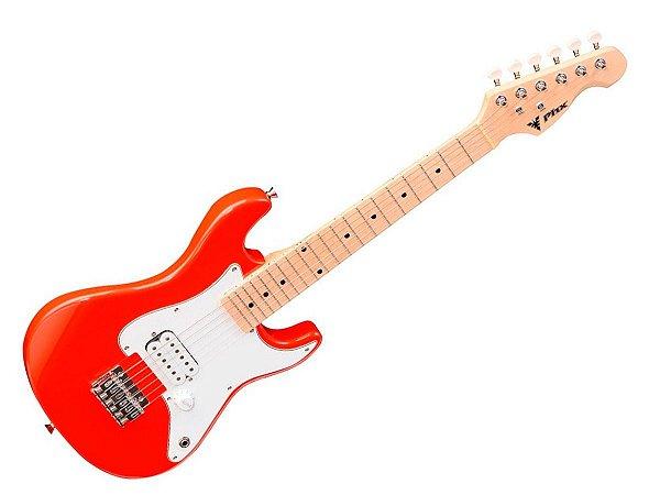 Guitarra Criança Infantil Eletrica Phx Isth 1/2 Profissional Vermelho