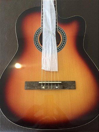 Violão Tagima Memphis Ac60 Sunburst Eletrico Nylon Afinador