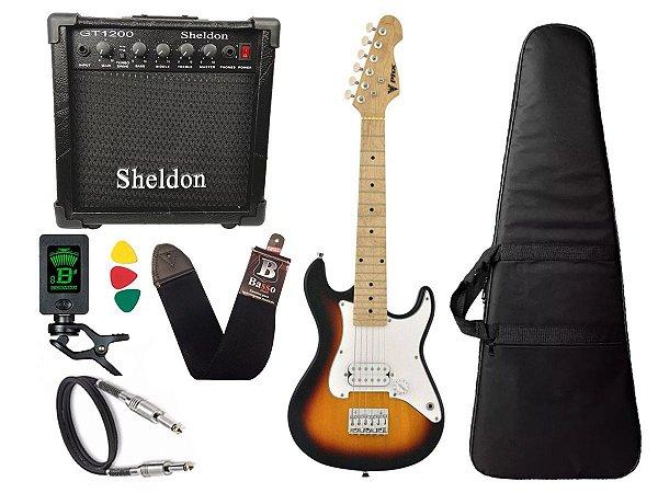 Kit Guitarra Infantil Phx Isth 1/2 Sunburst Cubo Sheldon
