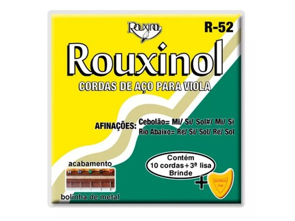 Encordoamento Viola Caipira Br Aço Rouxinol R52 C/ Bolinha