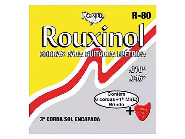 Encordoamento Guitarra Aço 010 046 Rouxinol R80