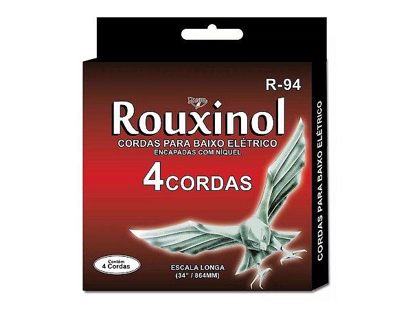 Encordoamento Contra Baixo Aço 4 Cordas Rouxinol R94 043 091