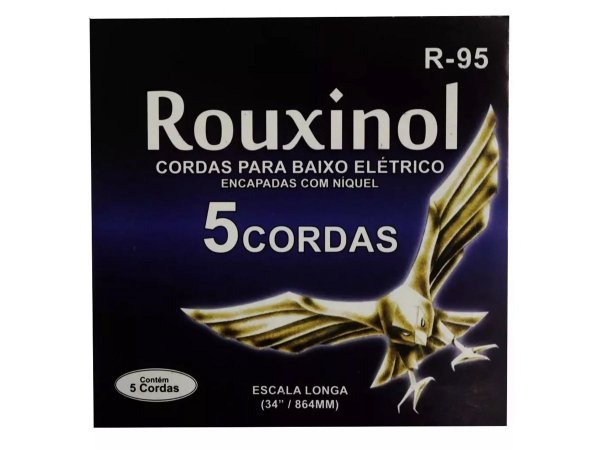 Encordoamento Contra Baixo Aço 5 Cordas Rouxinol R95 043 106