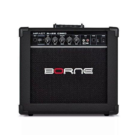 Amplificador Cubo Borne Impact Bass Cb60 20w Preto