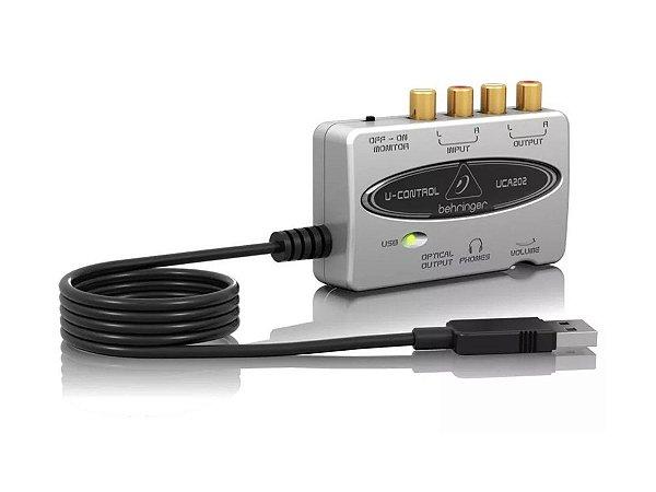 Interface Áudio Behringer Usb U-control Uca202