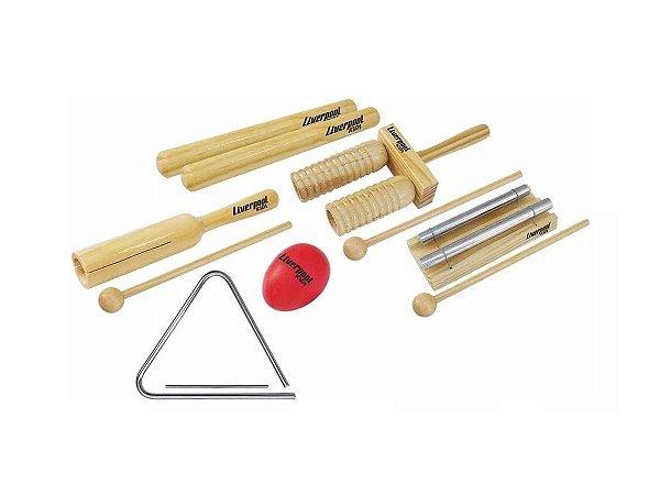 Kit Musicalização Infantil Liverpool 6 Itens Kit Inf01
