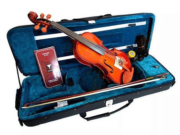 Violino Eagle Ve441 4/4 Case Breu Arco Cavalete Profissional