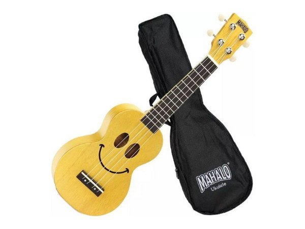 Ukulele Soprano Mahalo U-smile Sorriso Cordas Aquila Amarelo Capa