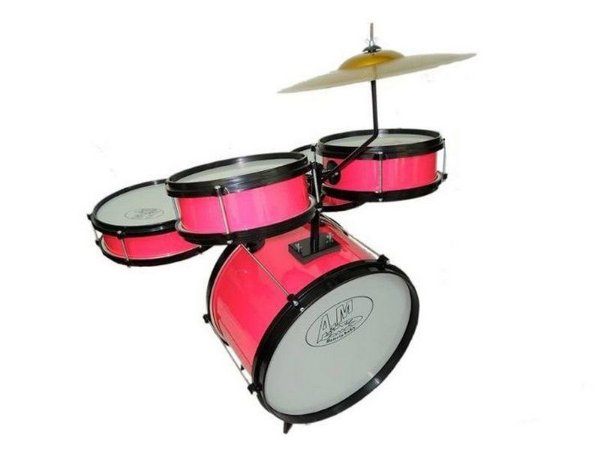 Bateria Criança Infantil Rock Baby Am Cor rosa pink Completo