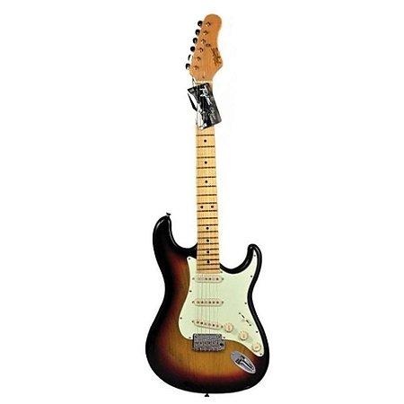 Guitarra tagima t635 Sunburst escala clara escudo mint green