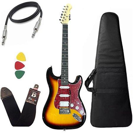 Kit Guitarra Phx Strato Power St H Sth Sunburst Bag