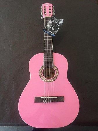 Violao Nylon PHX Infantil Criança PX31 1/2 Rosa