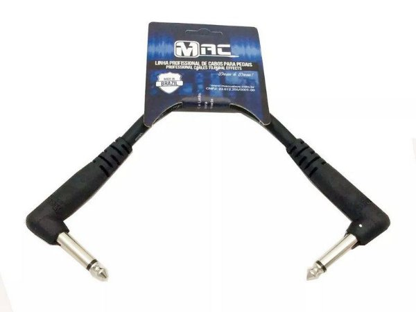 Cabo Para Pedal Mac cabos 25cm 0,30mm p10 90 grau