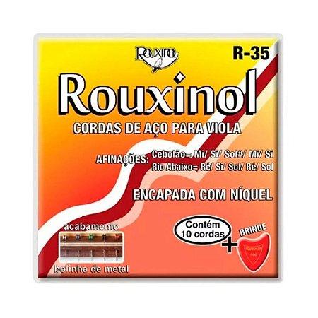 Encordoamento Viola Máxima Rouxinol Aço R35 Níquel