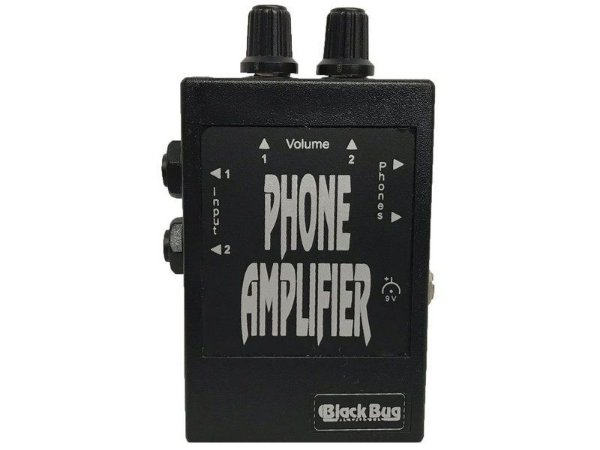 Amplificador De Fone De Ouvido Phone Amplifier - Black Bug