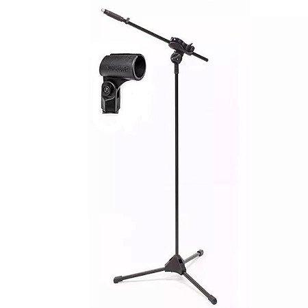 Suporte Pedestal De Microfone Ibox Smlight + Cachimbo