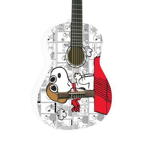 Violao Nylon Phx Disney Snoopy Adulto Branco Vsa1