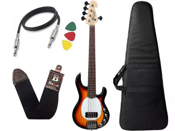 Kit Baixo Ativo Tagima Tbm5 Music Man Tbm 5 Sunburst Capa Bag