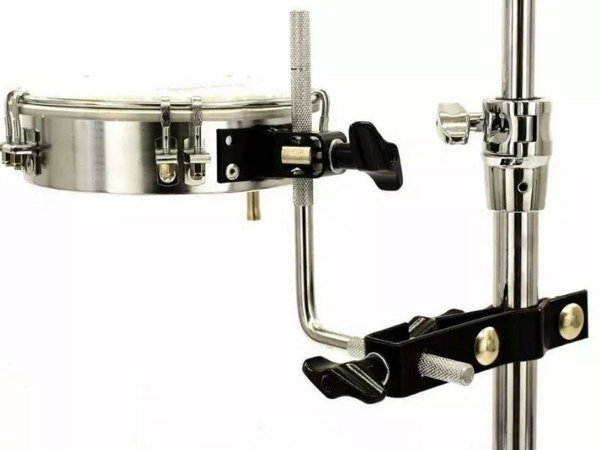 Adaptador Clamp Cowbell Tamborim Para Bateria Torelli Ta430