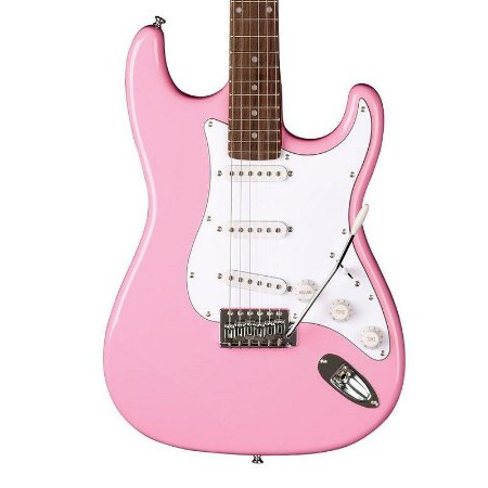 Guitarra Eagle STS 001 Stratocaster Rosa