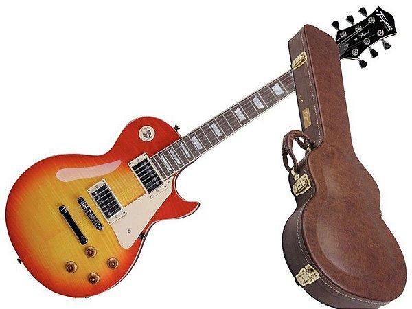 Guitarra Tagima Les Paul tlp Flamed cherry sunburst case