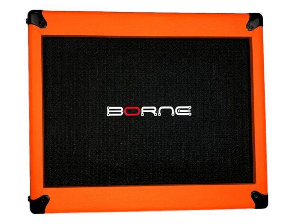 Gabinete caixa borne mob200 120w 2 falante 12 orange laranja