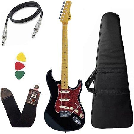 kit Guitarra Tagima TG530 Woodstock Preto Capa Bag