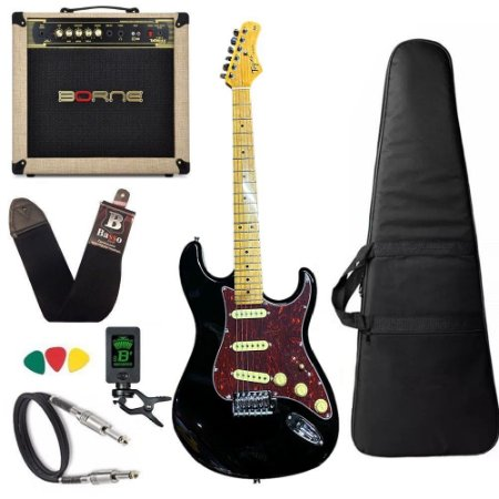 Kit Guitarra Tagima Tg530 Preto Cubo Borne Vorax 1050 w