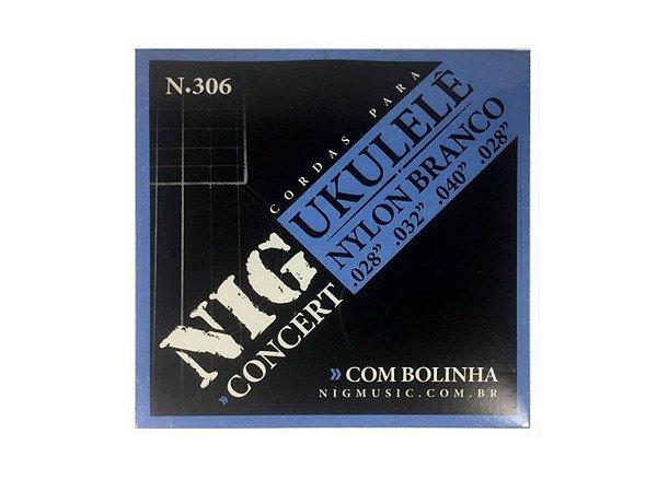 Encordoamento Ukulele Concert cordas Nylon N306 - Nig
