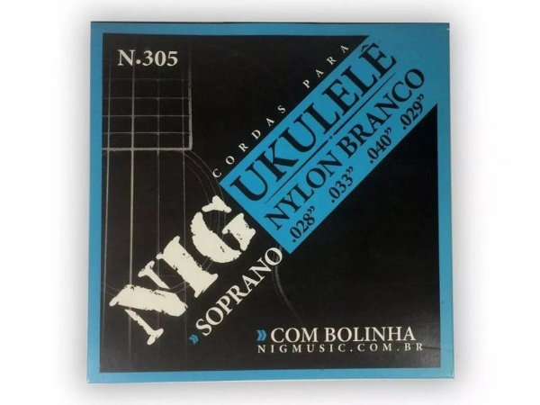 Encordoamento Ukulele soprano cordas Nylon N305 - nig