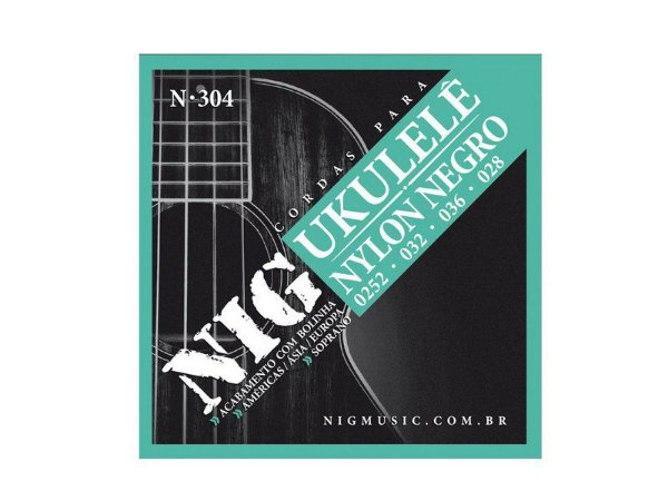 Encordoamento Ukulele Soprano cordas preta Nylon N304 - nig