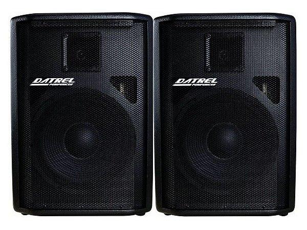 Kit Caixa amplificada Ativa + Passiva Datrel 12 500w usb profissional