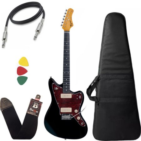 Kit Guitarra  Tagima Tw61 Woodstock Preto Bag Correia