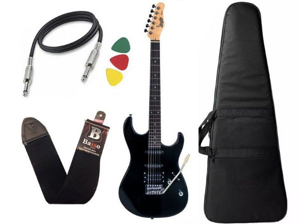 Guitarra Tagima Memphis MG 260 Preto Capa Correia