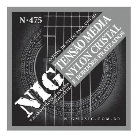 Encordoamento Violão Nylon Nig Cristal Prateada N475 Clássico