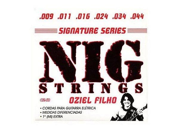 Encordoamento Guitarra Aço 09 044 Nig Oz60 Oziel Filho