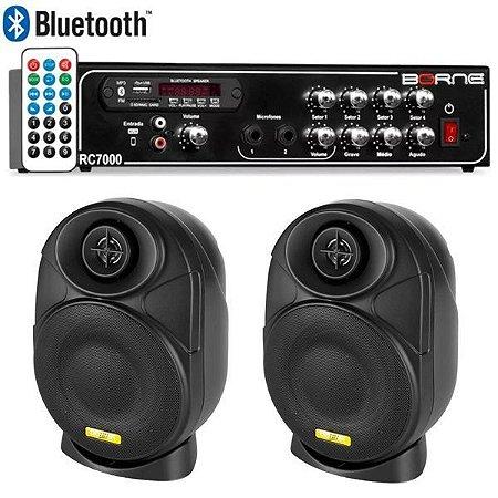 "Kit Som Ambiente Borne Rc7000 Usb Fm + 2 Elips LL audio 4"""