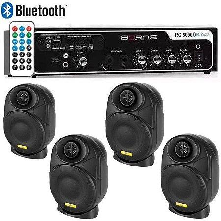 "Kit Som Ambiente Borne Rc5000 Usb Fm + 4 Elips LL audio 4"""