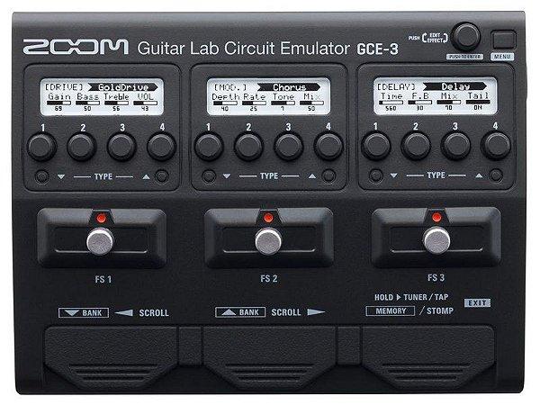 pedaleira zoom gce3 interface audio guitar lab gravação novo