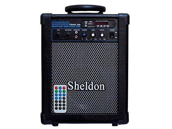 Caixa Multiuso Amplificada Sheldon Max 1000 Bluetooth usb 15w