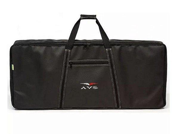 Capa Bag Teclado 5/8 executive Avs tipo couro alça mochila