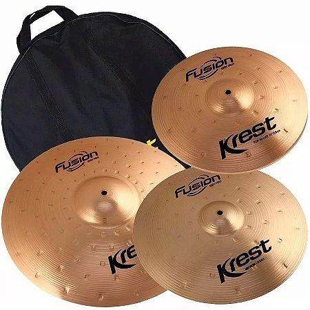 Kit set Pratos  Krest Fusion 14 16 20 B8 C/ Bag - Fset2