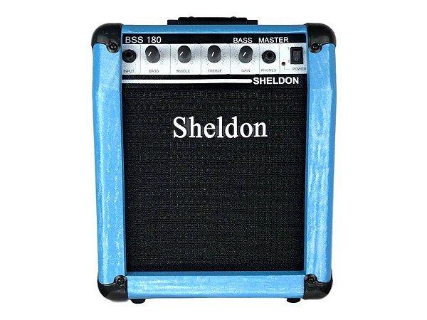 Amplificador Cubo para baixo Sheldon Bss180 18w - Azul