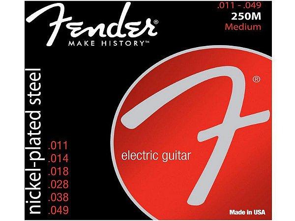 Encordoamento cordas Guitarra 011 fender 250M medium niquel