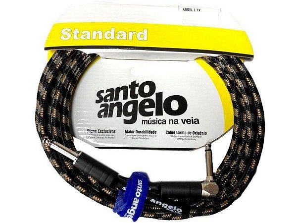 Cabo Santo Angelo Textil 3.05m P10 90l Guitarra Baixo Violão