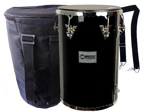 kit Rebolo Madeira 12 profissional preto music bag Talabarte