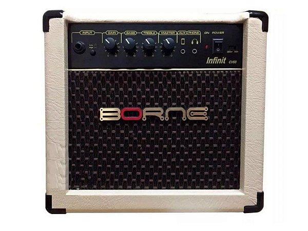 Amplificador cubo para Violão Borne Infinit Cv60 15w creme