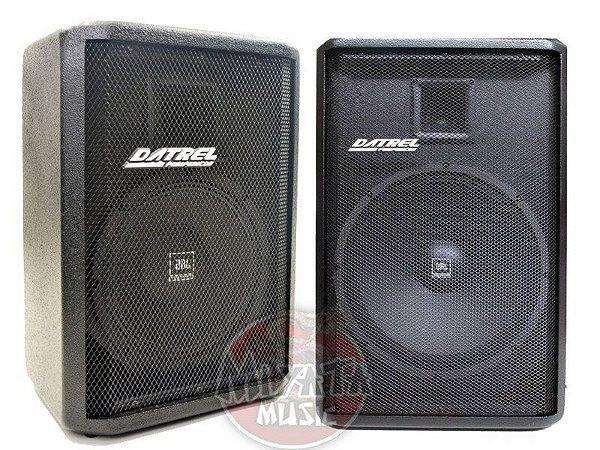 Kit Caixa Ativa + Passiva Datrel Falante 10 Jbl 400W Bluetooth / usb / sd card / fm