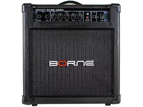 Amplificador Cubo Borne Cb80 Impact Bass 30w para baixo