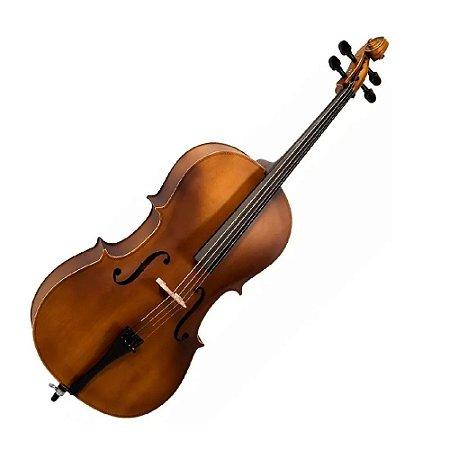 Violoncelo 3/4 Profissional Envelhecido Vogga Voc134n + Arco